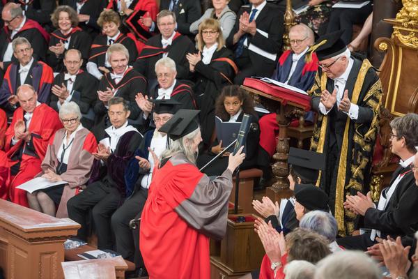 Professor Mary Beard receives an honorary degree at Encaenia