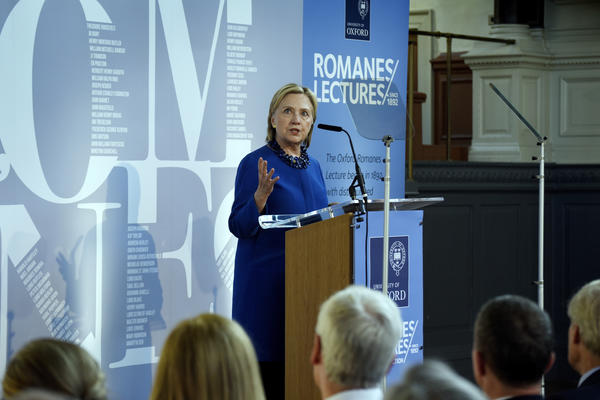 Romanes Lecture with Hillary Clinton